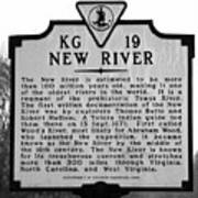 New River Historical Marker Art Print