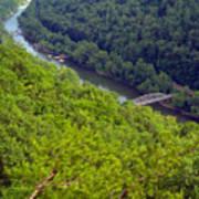 New River Old Bridge Art Print
