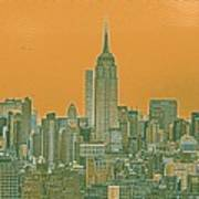 New Tork City Ny Travel Poster 4 Art Print