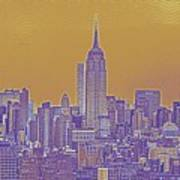 New Tork City Ny Travel Poster 5 Art Print