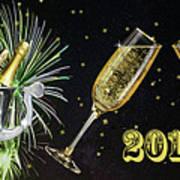 New Year 2018 Art Print