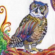 New-year Owl Art Print