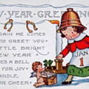 New Year Postcard Art Print