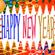 New Year's Greetings Art Print