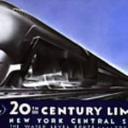 New York 20th Century Limited Train  1938 Art Print