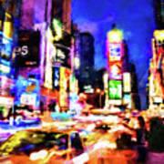 New York At Night - 15 Art Print