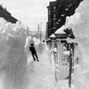 New York: Blizzard Of 1888 Art Print