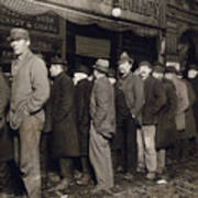 New York: Bread Line, 1907 Art Print