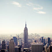 New York City - Empire State Building Panorama Art Print