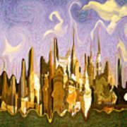 New York City 2200 - Modern Art Art Print
