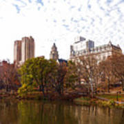 New York City Central Park Living - Impressions Of Manhattan Art Print