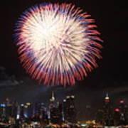 New York City Fireworks Art Print