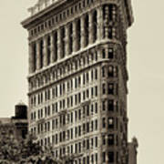 New York City - Flatiron In Sepia Art Print