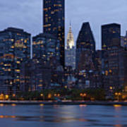 New York City From Across The Water Art Print by Bryan Mullennix