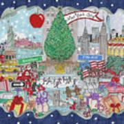 New York City Holiday Art Print