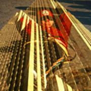 New York City Jogger - Collage Art Print
