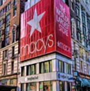 New York City Macy's Herald Square Store Art Print