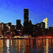 New York City Night Lights Art Print