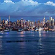 New York City Nyc At Dusk Art Print