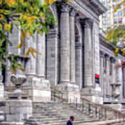 New York City Public Library Art Print