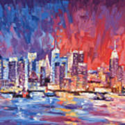 New York City Skyline 02 Art Print