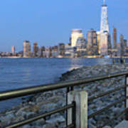 New York City Skyline From Liberty State Park In Jersey City New Jersey #4 Art Print