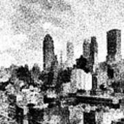 New York City Skyline Sketch Art Print