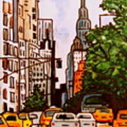 New York City Taxis Art Print