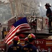 New York Firefighters And Salt Lake Art Print
