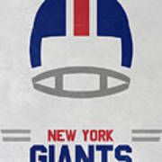 New York Giants Vintage Art Art Print