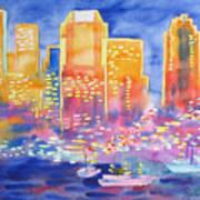 New York Great City Silhouettes.2007 Art Print