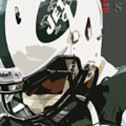 New York Jets Football Team And Original Typography Art Print