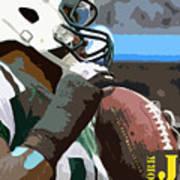 New York Jets Football Team And Original Yellow Typography Art Print