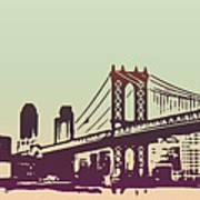 New York Manhattan Bridge Art Print