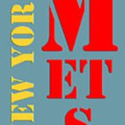 New York Mets Baseball New Typography Art Print