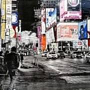 New York Night Life Art Print