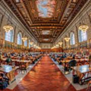 New York Public Library Main Reading Room I Art Print