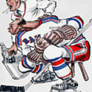 New York Rangers 1960 Program Art Print