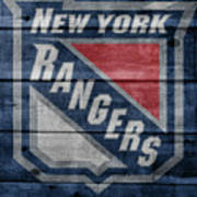 New York Rangers Barn Door Art Print