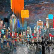 New York Skyline 198 1 Art Print