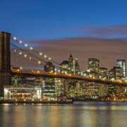New York Skyline - Brooklyn Bridge - 4 Art Print