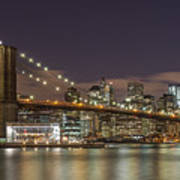 New York Skyline - Brooklyn Bridge - 6 Art Print