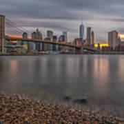 New York Skyline - Brooklyn Bridge - 9 Art Print