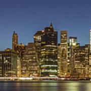 New York Skyline Panorama - 2 Art Print