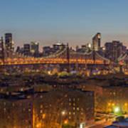 New York Skyline - Queensboro Bridge Art Print