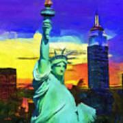 New York Statue Of Liberty Art Print