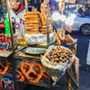 New York Street Vendor Art Print