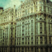 New York Upper West Side Apartment Building Art Print