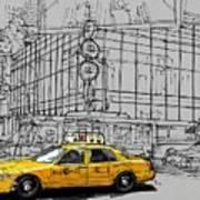New York Yellow Cab Art Print
