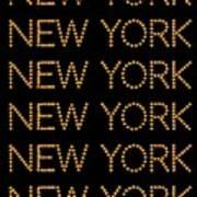 New York No 3  Art Print